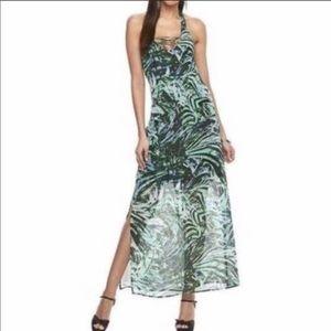 NWOT Jlo tropical print maxi dress